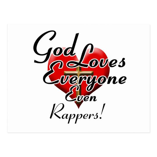 God Loves Rappers! Postcard