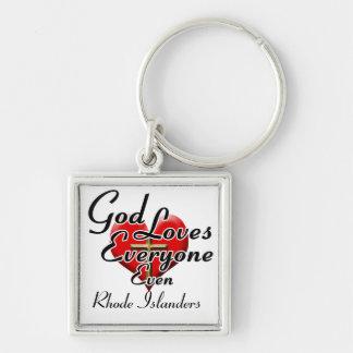 God Loves Rhode Islanders Key Ring