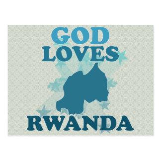 God Loves Rwanda Postcard