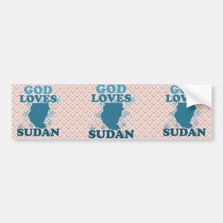 God Loves Sudan Bumper Sticker