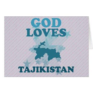 God Loves Tajikistan Greeting Cards