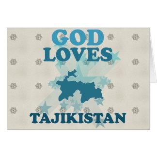 God Loves Tajikistan Card
