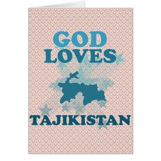 God Loves Tajikistan Greeting Card