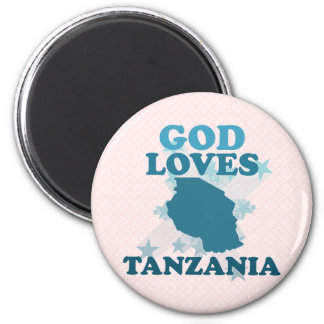 God Loves Tanzania Fridge Magnets