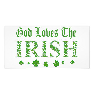 GOD LOVES THE IRISH PERSONALIZED PHOTO CARD