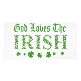 GOD LOVES THE IRISH CUSTOMIZED PHOTO CARD