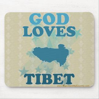 God Loves Tibet Mouse Pad