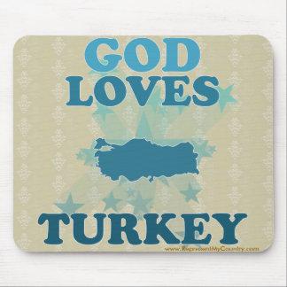God Loves Turkey Mouse Pad
