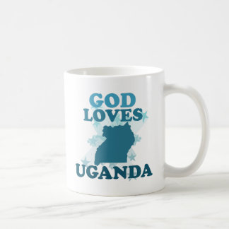 God Loves Uganda Basic White Mug