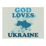 God Loves Ukraine Post Cards