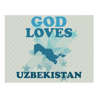 God Loves Uzbekistan Postcard