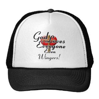 God Loves Wingers! Mesh Hats