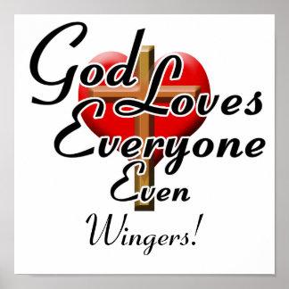 God Loves Wingers! Poster