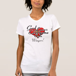 God Loves Wingers Tee Shirts