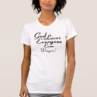God Loves Wingers T-shirt
