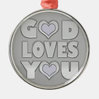 God Loves You Christmas Ornament