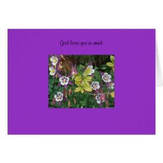 God loves you so much greeting card