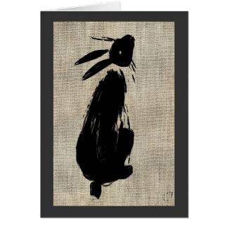 God Luck Moon Gazing Hare Card