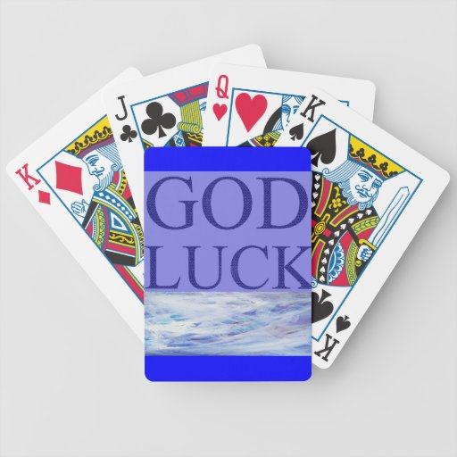 GOD LUCK BICYCLE PLAYING CARDS