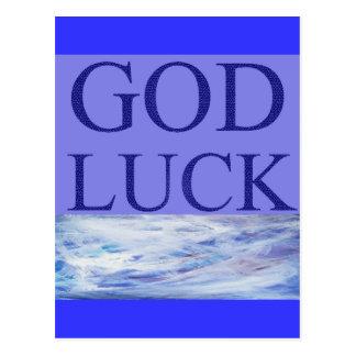 GOD LUCK POSTCARD
