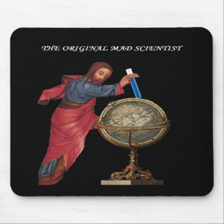 """God """"mad scientist"""" mouse pads"""