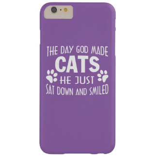 GOD MADE CATS BARELY THERE iPhone 6 PLUS CASE