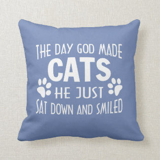 GOD MADE CATS CUSHION