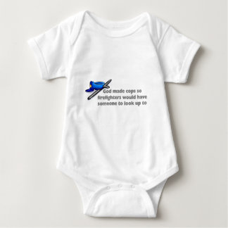 God made cops so firefighters... baby bodysuit