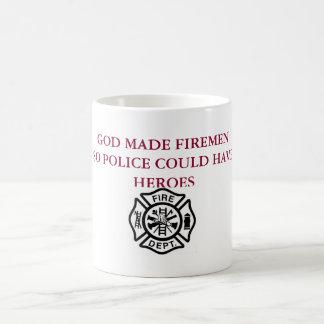 God Made Firemen Mug