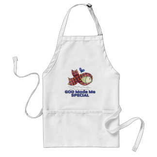 God Made Me Special Autism Fish Symbol Standard Apron