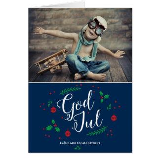 God Mistletoe jul feriehälsning Card