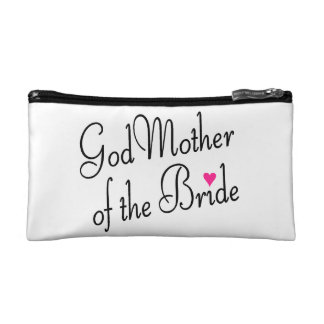 God Mother of the Bride Cosmetic Bags