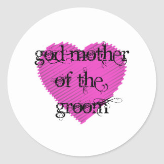 God Mother of the Groom Round Sticker