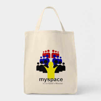 God MySpace Grocery Tote Bag