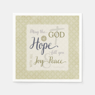 God of Hope Fill You with Joy & Peace Disposable Serviette