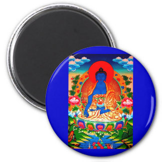 God of the ill treatment 6 cm round magnet