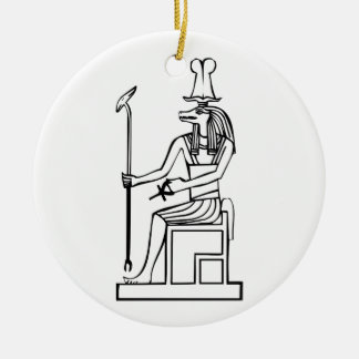 God of water, Egyptian hieroglyph Christmas Ornament