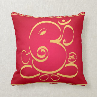God Om Ganesha on red Cushion