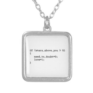 God only knows how I'd code without you... Silver Plated Necklace
