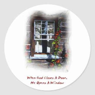 GOD OPENS A WINDOW STICKERS