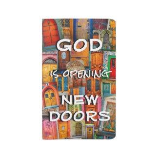 God Opens Doors Colorful Unique Large Moleskine Notebook