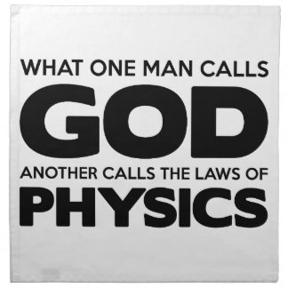 God or Physics Napkin