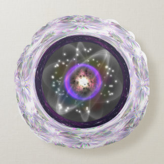God Particle round pillow