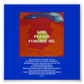 GOD, PLEASE FORGIVE ME POSTER