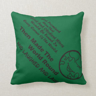 """God Promised Man"" Funny Cushion"