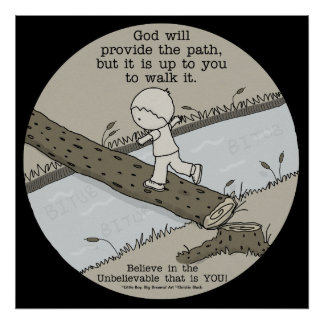 God Provides a Path Poster