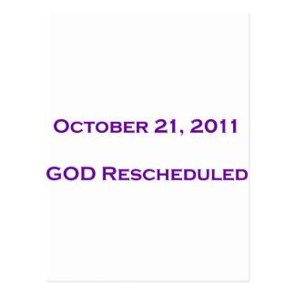 GOD Rescheduled Postcard