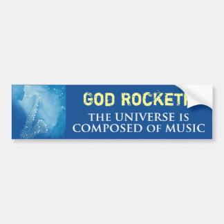 God Rocketh Bumper Sticker