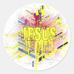 God Rocks - Christian Rock Gear Round Stickers