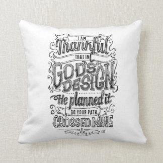 God's Design Hand lettered chalkboard gift Throw Pillow